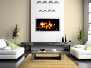 infrarød varme, panelovne med peis motiv